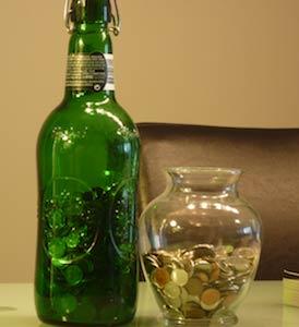 My money saving jars image