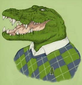 Funny crocodile image