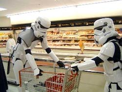 Star Wars grocery shopping image